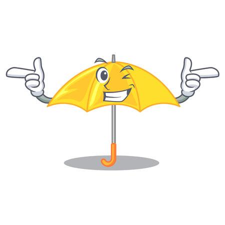 Wink umbrella yellow in a shape cartoon