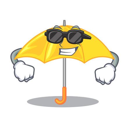 super coolumbrella yellow in a shape cartoon