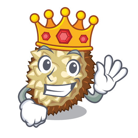 King fruit marang is located in mascot vector illustration