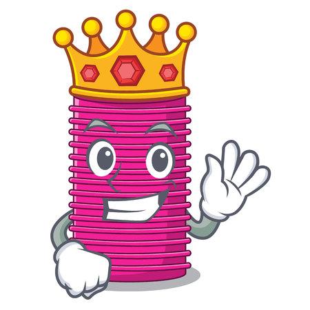 King curlers hair in shape cartoon funny