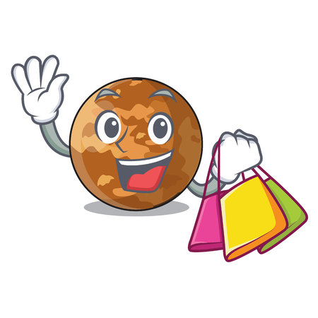 Shopping picture of a cartoon mercury planet vector illustration