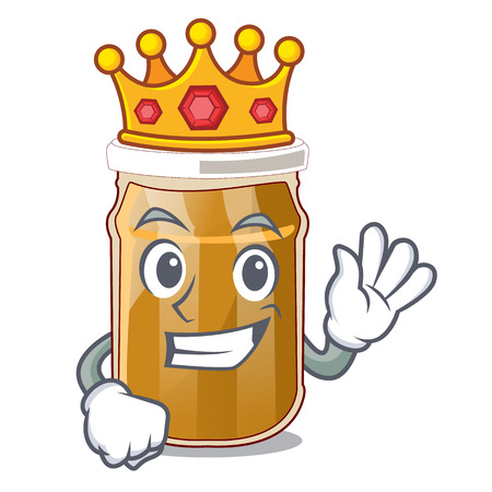 King almond butter isolated in the mascot vector illustration