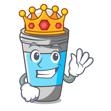 King roll on deodorant isolated with cartoon vector illustration