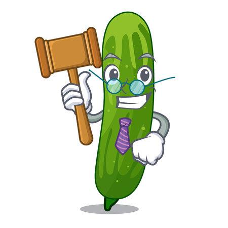 Illustration pour Judge fresh cucumber slice on mascot board vector illustration - image libre de droit
