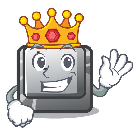 King button L on a game cartoon vector illustration