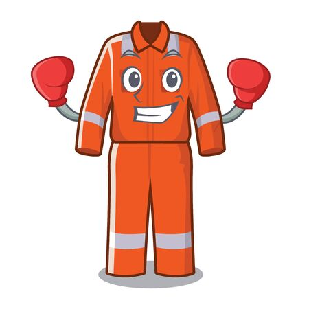 Illustration for Boxing working overalls in the cartoon shape vector illustration - Royalty Free Image