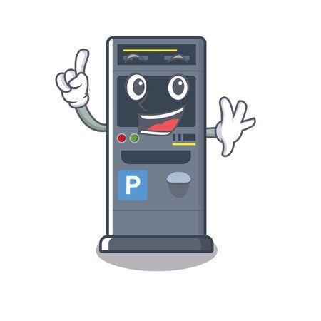 Finger parking vending machines cartoon the door