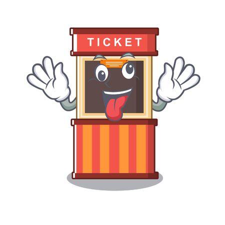 Crazy ticket booth in the character door