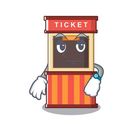 Waiting ticket booth in the character door