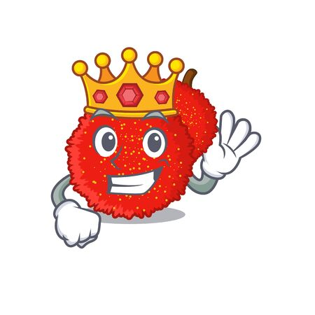 King bayberry isolated with in the cartoon vector illustration