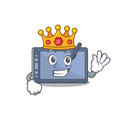 King graphic tablet on the mascot table