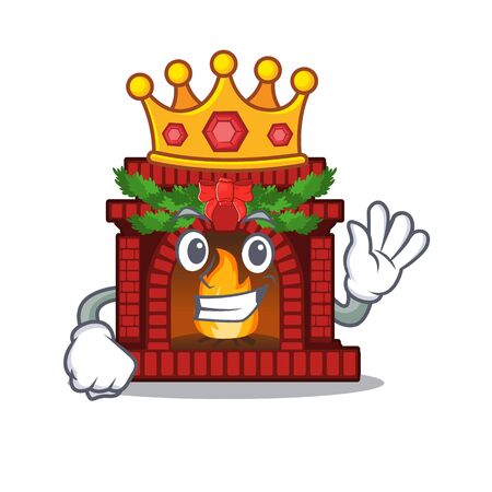 King christmas fireplace on with the character