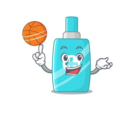 Gorgeous ointment cream mascot design style with basketball. Vector illustration