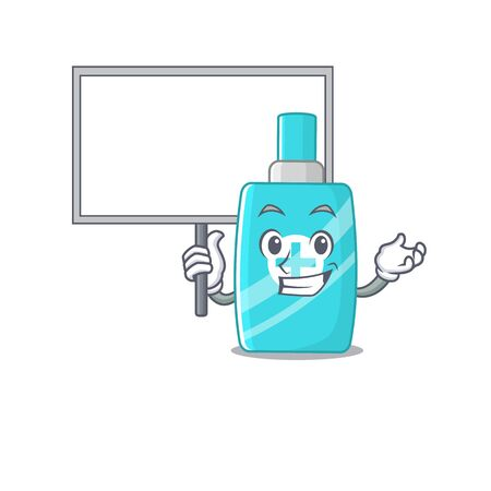 An icon of ointment cream mascot design style bring a board. Vector illustration