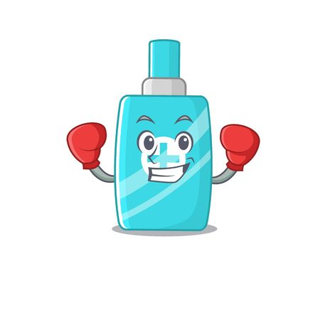 A sporty boxing athlete mascot design of ointment cream with red boxing gloves. Vector illustration