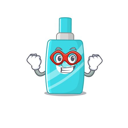 A cartoon character of ointment cream performed as a Super hero. Vector illustration