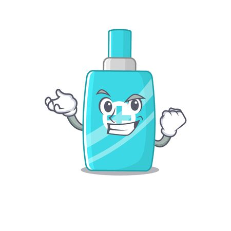 A dazzling ointment cream mascot design concept with happy face. Vector illustration