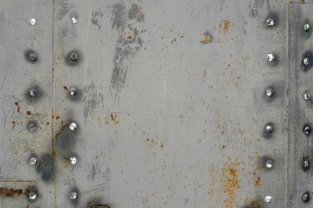 Photo pour Metal texture with rust and rivets. - image libre de droit