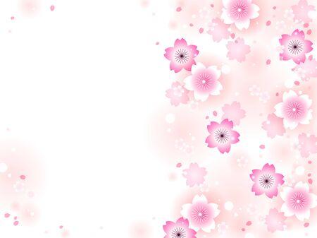 Illustration pour Illustration frame of cherry blossoms - image libre de droit