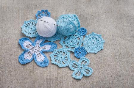 Cotton yarns and Irish lace