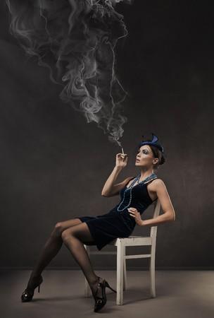 Vogue style retro portrait - 30s lady