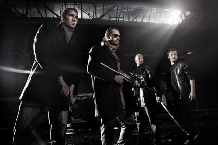 Photo pour Gangster members - image libre de droit