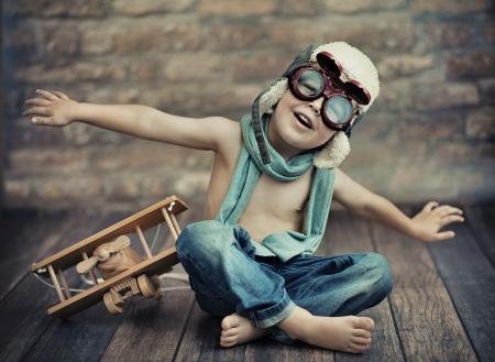 Small boy playing