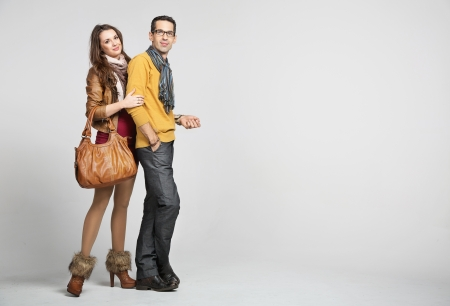 Foto de Elegant couple and the autumn fashion - Imagen libre de derechos