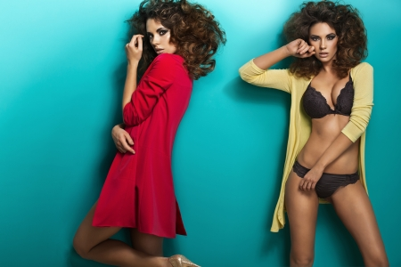 Photo for Amazing picture of sensual female twins - Royalty Free Image