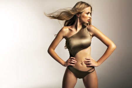 Photo for Picture presenting fit blonde lady - Royalty Free Image