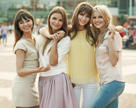 Memory of the fantastic summer of cheerful ladies