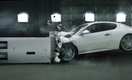 Art picture of crashed car