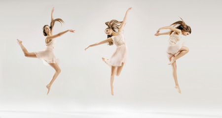 Multiple picture of the young ballet dancer