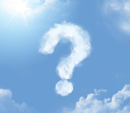 Photo pour Flossy cloudlet in the form of question mark - image libre de droit