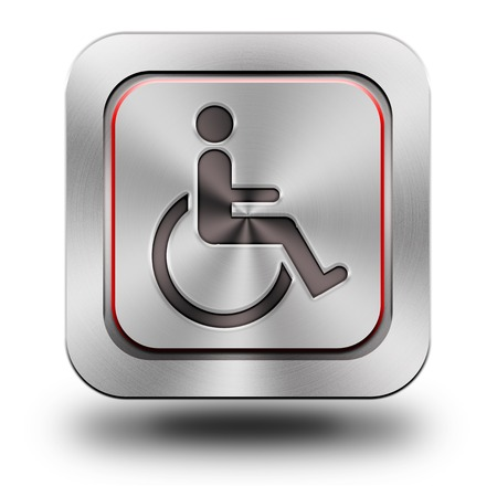 Accessibilit, aluminum or steel, chromium, glossy, icon, button, sign, icons, buttons, crazy colors