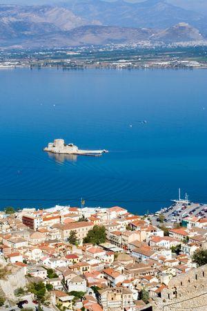 ancient venetian bourtzi castle in nafplion greece