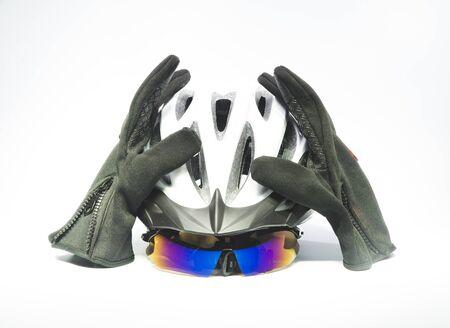 Photo pour Bicycle Accessories - Helmet and sneakers - image libre de droit