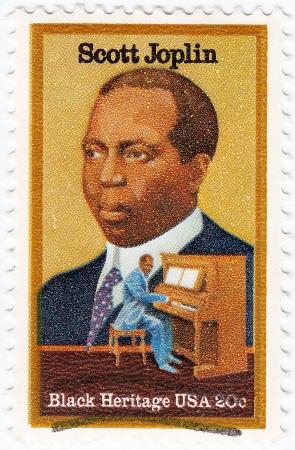 USA - CIRCA 1997   stamp printed in USA shows Scott Joplin American composer and pianist, circa 1997