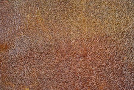 Photo pour Close up of natural brown leather background - image libre de droit