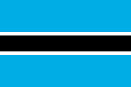Flag of Botswana. Vector illustration.