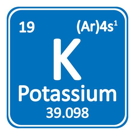 Illustration for Periodic table element potassium icon on white background Vector illustration. - Royalty Free Image