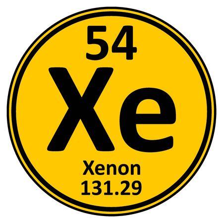 Illustration pour Periodic table element xenon icon on white background. Vector illustration. - image libre de droit