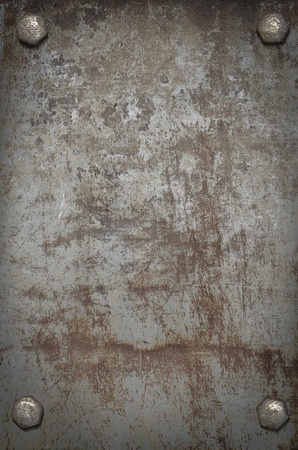 grunge background  metal plate with screws