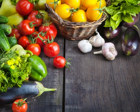 organic food background; Farmers Vegetable Marketの写真素材