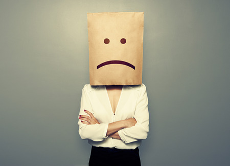 Photo pour businesswoman have a bad mood - image libre de droit