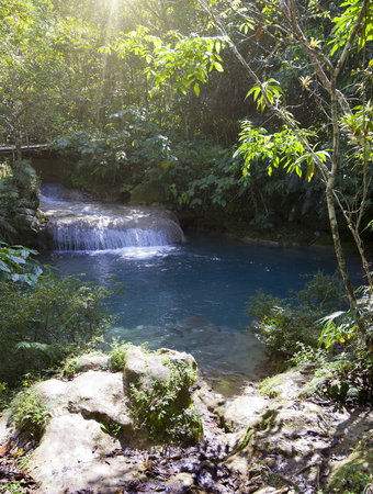 Photo for The river with stages in park of Soroa. Cuba. - Royalty Free Image