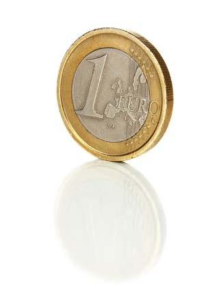 shaddy coin 1 euro isolated on white background