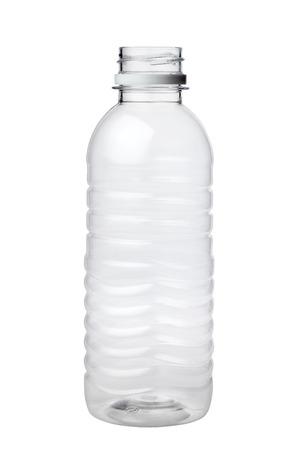 Empty plastic bottle isolated on white background