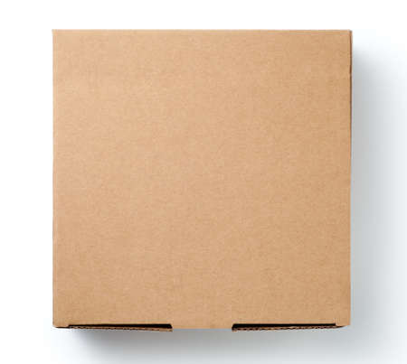 Foto für Brown cardboard box isolated on white background. Top view. - Lizenzfreies Bild