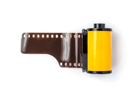 Photo pour photo film in cartridge isolated on white - image libre de droit